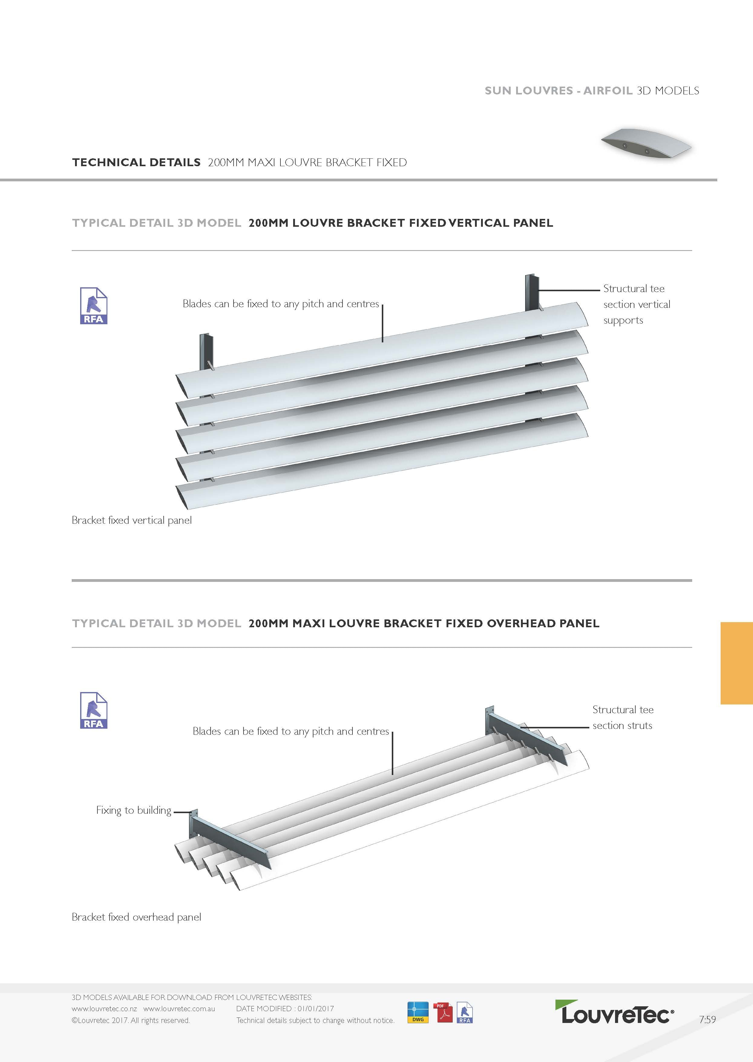 200mm Bracket Fixed Panel Vertical Config | 7.59