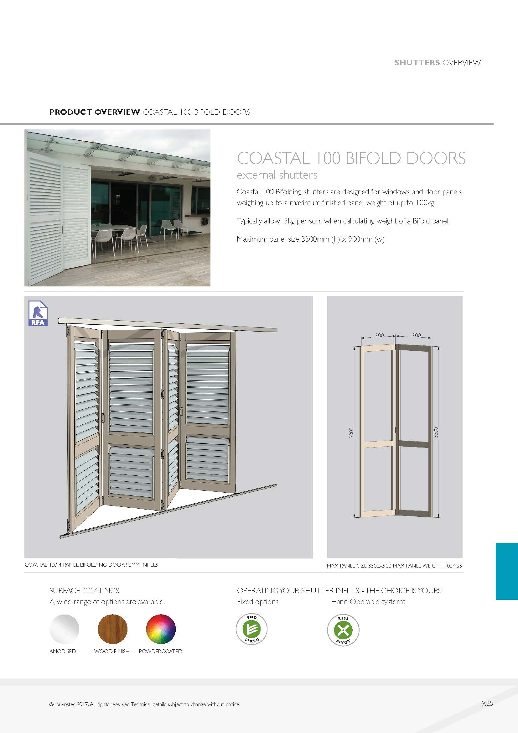 Coastal 100 Bifolds | 9.25