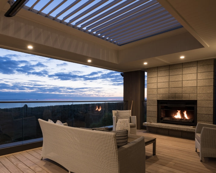 outdoor roof fireplace