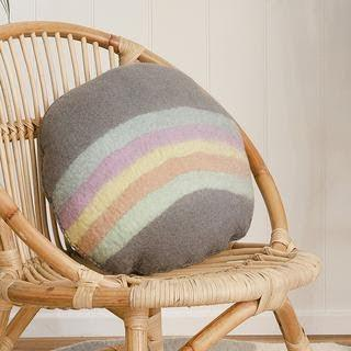 Rainbow felt cushion
