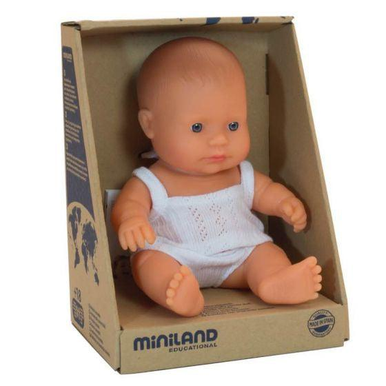 Baby girl Caucasian 21cm by Miniland