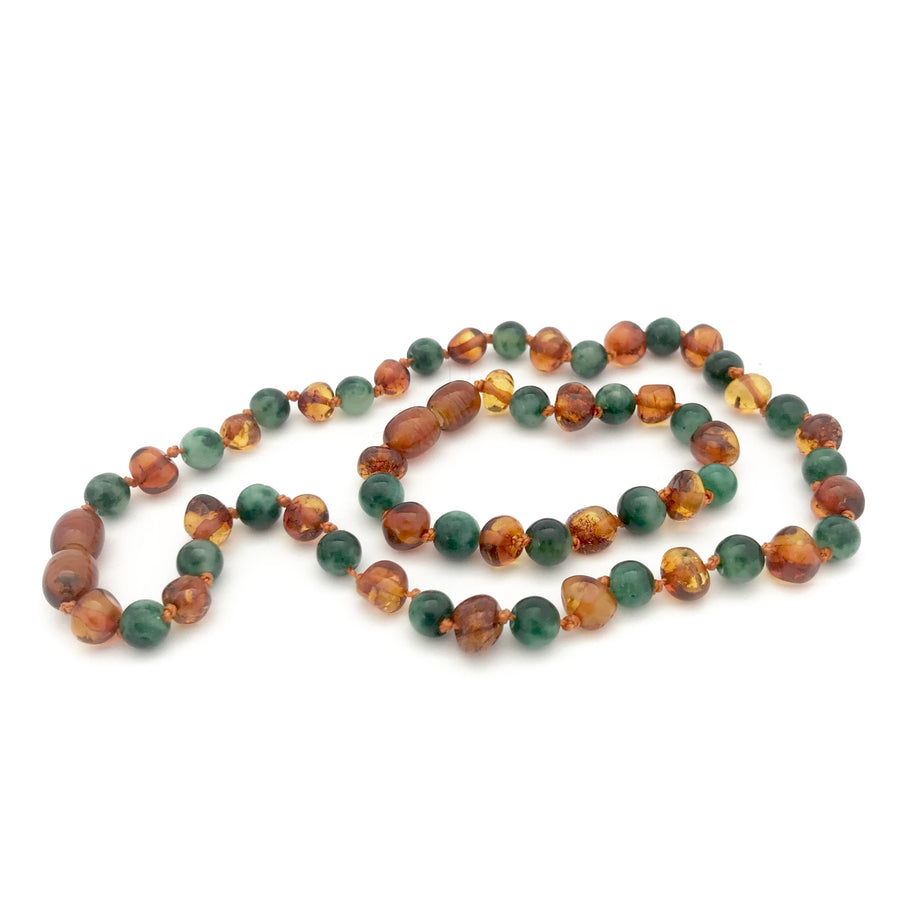 Cognac baltic amber gemstone necklace