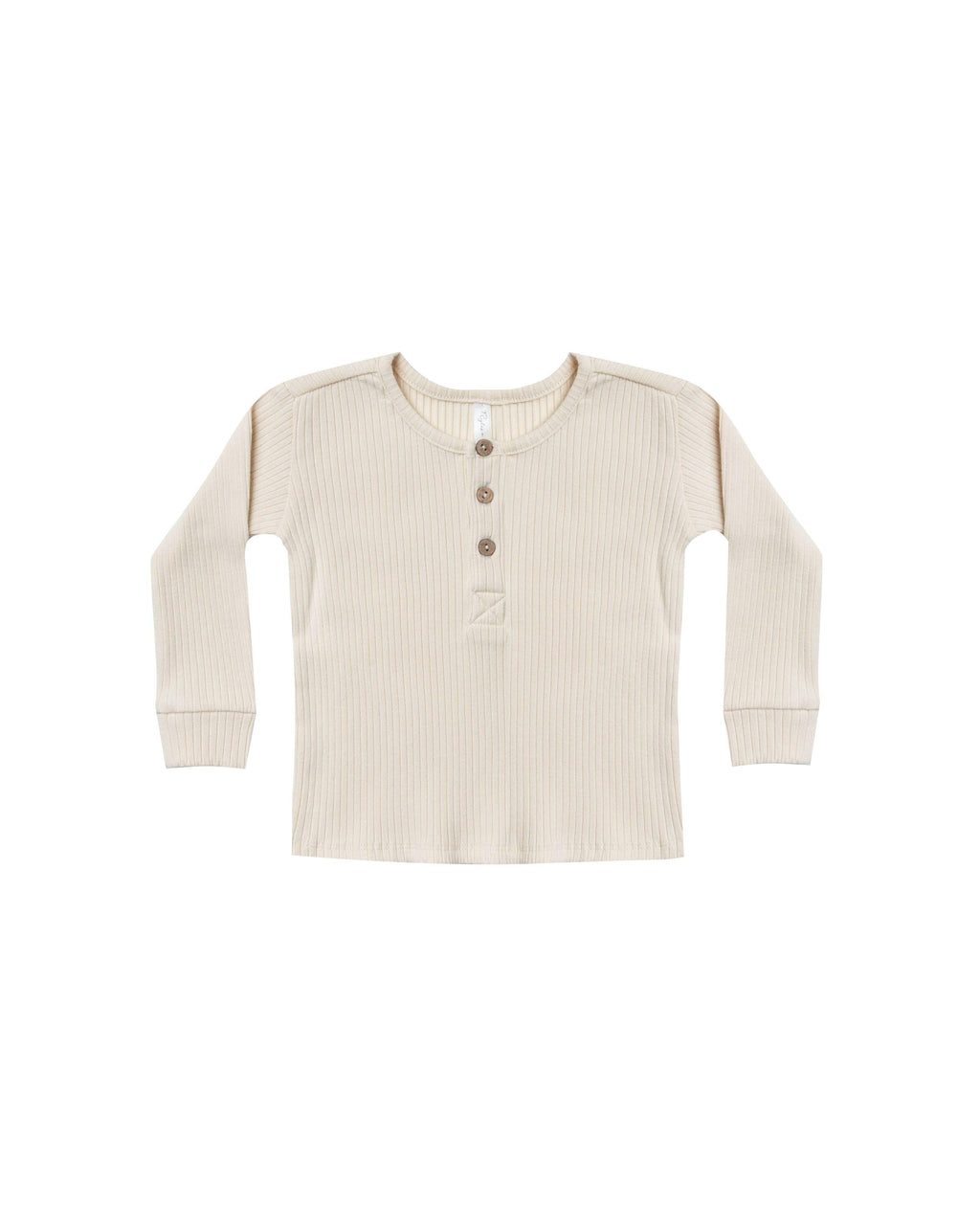 Ribbed Henley- Wheat | Rylee and Cru