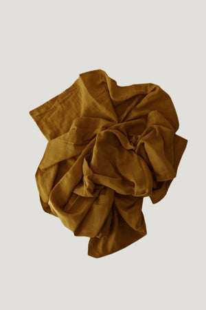 Cotton Muslin Wrap Blanket- Golden