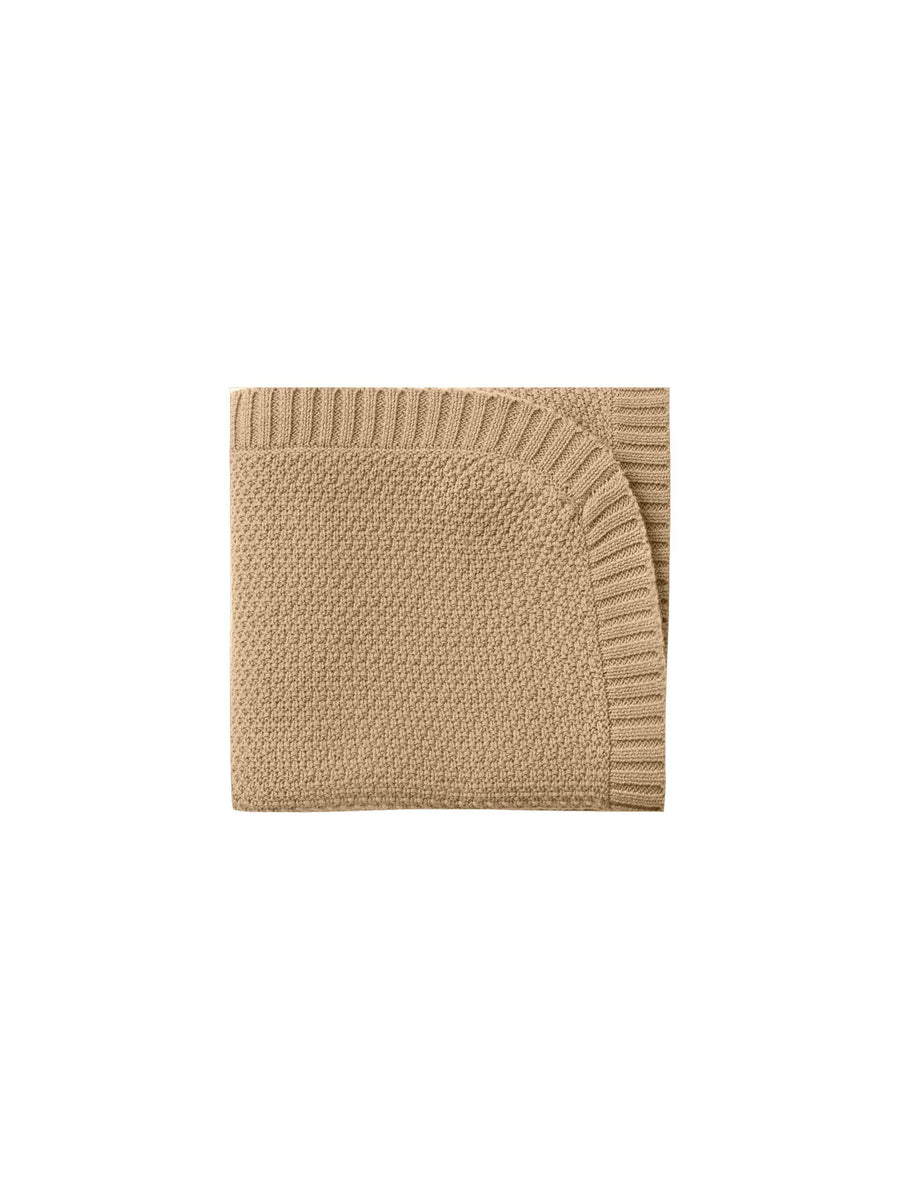 Chunky Knit Baby Blanket- Honey