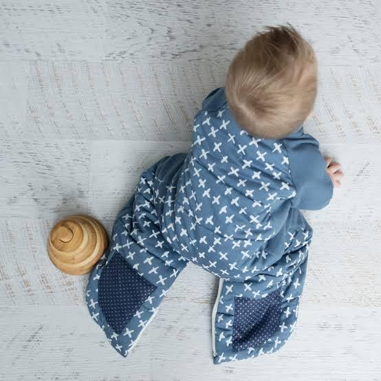 ergoPouch Sleep Suit Bag | 2.5 tog | NAVY CROSS