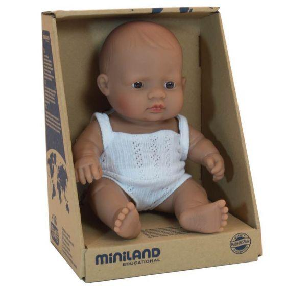 Miniland Baby doll, Hispanic girl- 21cm