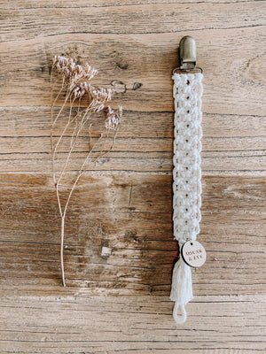 Oscar and Eve | Antique Macrame Pacifier Clips