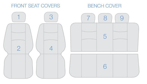 realseatcovers front bucket rear bench seat cover