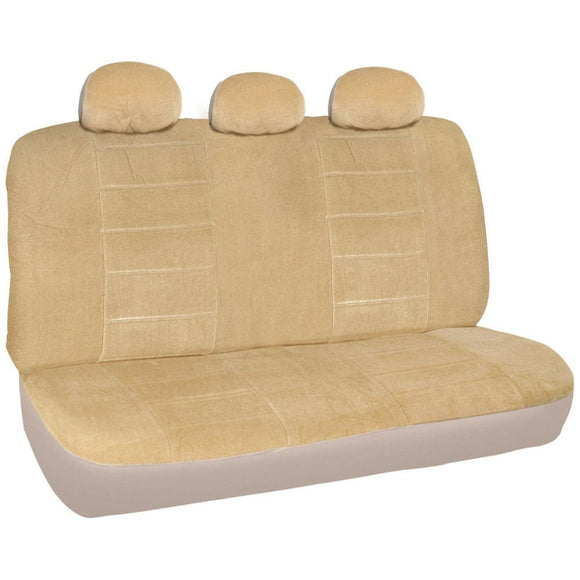 A36 Premium 12mm Rear Bench Seat Covers Split Top / Bottom 3 Headrest - RealSeatCovers