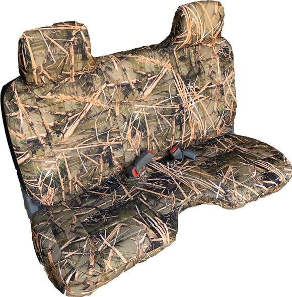 Seat Cover for Toyota Tacoma Triple Stitched Thick Front Bench Camo - RealSeatCovers