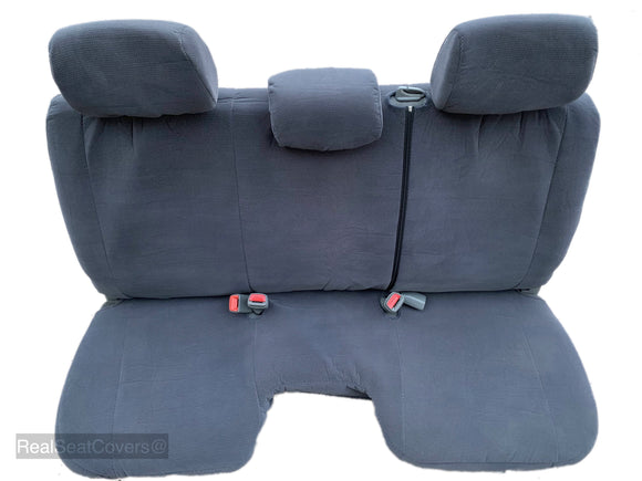 Seat Cover for Toyota Tacoma Front Bench 3 Headrest Notched Cushion - RealSeatCovers