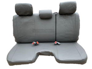 Seat Cover for Toyota Tacoma Genuine PU Leather Front Bench 3 Adjustable Headrest - RealSeatCovers