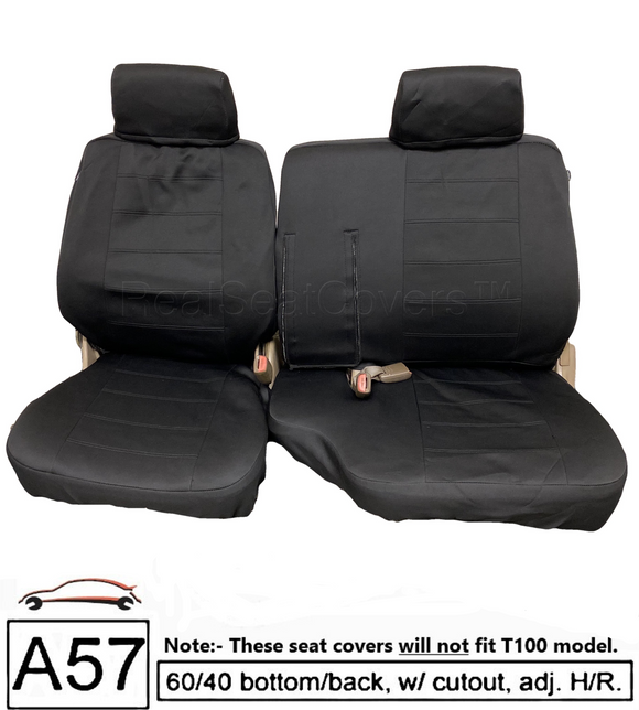 Waterproof Seat Cover for Toyota Pickup Front 60/40 Split Bench Thick Set Fitted