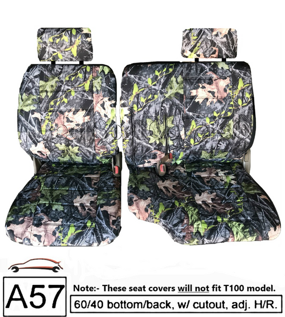 Seat Covers for Toyota Pickup 60/40 Split Bench w/ Adjustable Headrest