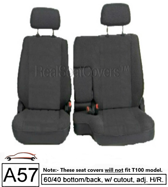 charcoal 60 40 seat cover for toyota pickup 1990 1991 1992 1993 1994 1995