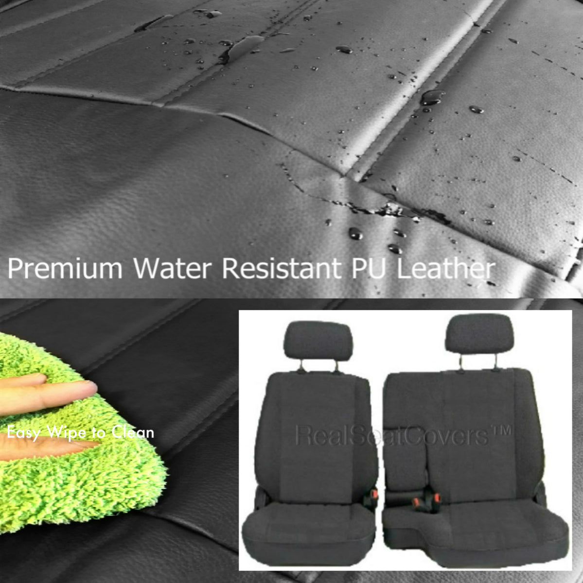 Toyota Tacoma Front 60 40 Split Bench Pu Leather Seat
