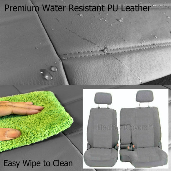 Seat Cover for Toyota Pickup Front 60/40 Split Bench Thick PU Leather Set - RealSeatCovers