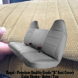 Seat Cover for 1992 - 1998 Ford F150 F250 F350 Truck Solid Bench Front / Rear - RealSeatCovers