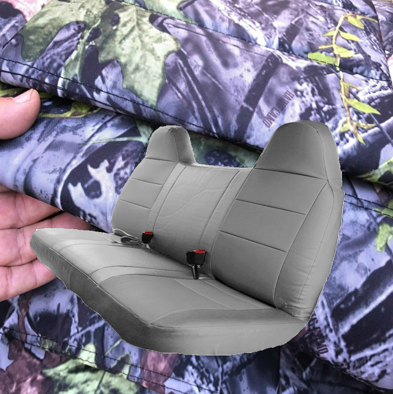 1992 1998 Ford F150 F250 F350 Truck Solid Bench Seat Cover Front Rear Realseatcovers
