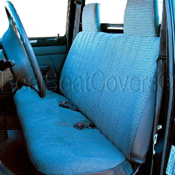 Seat Cover for 1985 - 1995 Toyota Pickup Front Solid Bench Custom Fit - RealSeatCovers