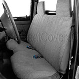 Bench Seat Cover Molded Headrest Shifter Cutout for Small Pickup - RealSeatCovers