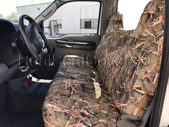 Ford F Series Regular Super Cab Front Rear Bench F23 Camo Seat Cover Realseatcovers