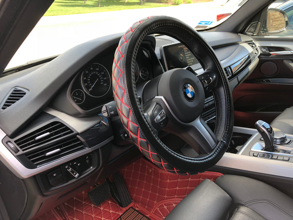 Premium 100% Genuine Diamond Series Steering Wheel Cover Odorless - RealSeatCovers