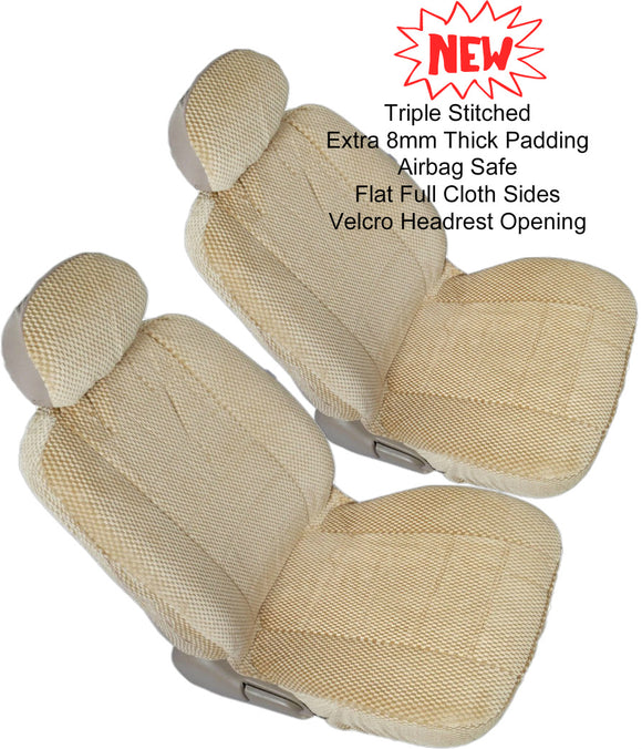 Car Seats 12mm Thick Triple Stitched Front 2 Bucket Seat Covers - RealSeatCovers