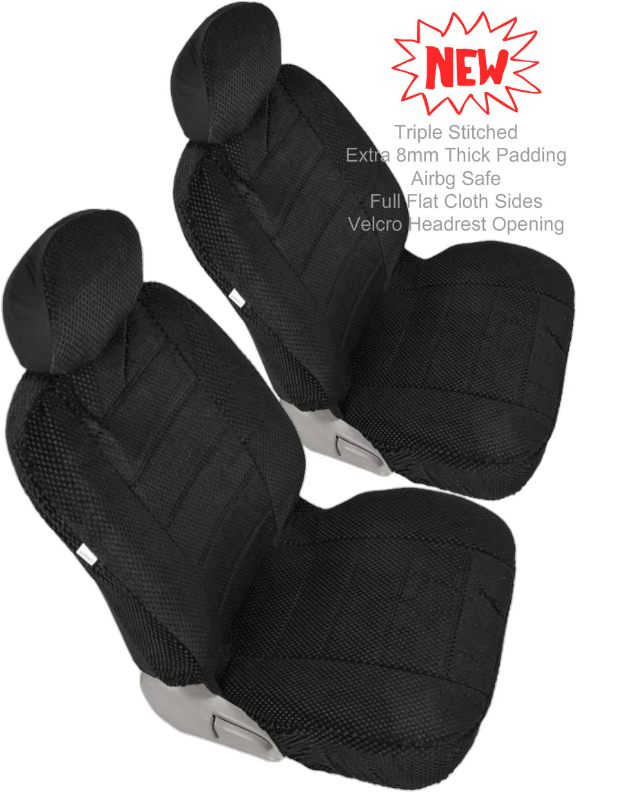 Car Seats 12mm Thick Triple Stitched Front 2 Bucket Seat