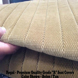 Seat Covers for Toyota Tacoma Front Bench 3 H/R Notched Cushion Exact Fit - RealSeatCovers