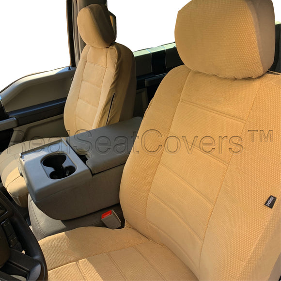 4pc Front 2 Low Back Bucket Seat Covers Set for Ford F-Series XLT XL - RealSeatCovers