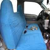 Seat Cover for Ford F-Series Full Size Front Bench Molded High Back Headrest - RealSeatCovers