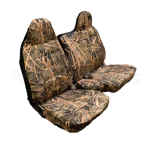 Seat Cover for 98 - 2003 Mazda B-Series 60/40 Split Bench Muddy Water Camo - RealSeatCovers