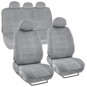 Front Bucket / Rear Bench 9pc Combo Seat Cover Set Airbag Safe - RealSeatCovers