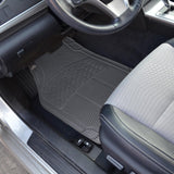 All Weather Heavy Duty Rubber Floor Mats Semi Custom 3pc Set - RealSeatCovers