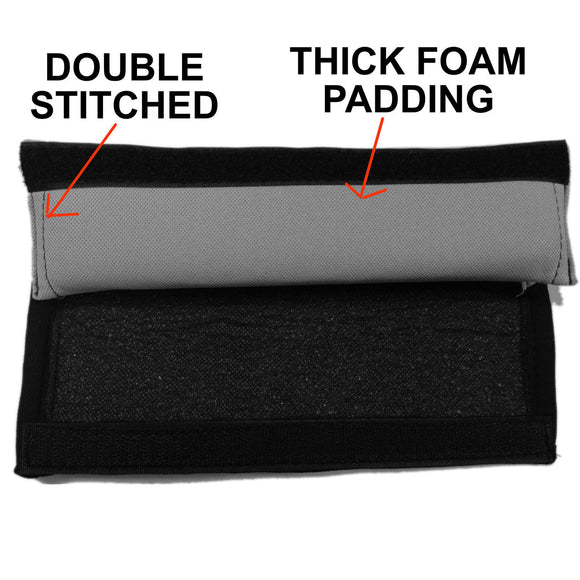 2pc Comfy Soft Black Seat Belt Shoulder Pad Cushion For Car, Van & Suv - RealSeatCovers