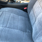 Easy Slip on 2 Bucket Seat Covers 12mm Thick Triple Stitched Set - RealSeatCovers