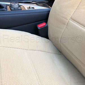 Easy Slip on 4pc Front 2 Bucket Seat Covers Set for Mercedes Benz - RealSeatCovers
