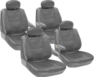 Seat Covers for Toyota Sienna 8pc 2 Row Genuine PU Leather VAN - RealSeatCovers
