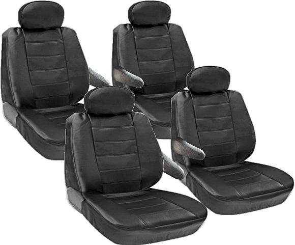 Seat Covers for Chrysler Town Country 8pc 2 Row Genuine PU Leather - RealSeatCovers