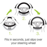 Grain Design Chrome Stripe Wood Gray Steering Wheel Cover - RealSeatCovers