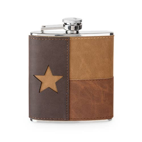 Leather Texas Flask by Foster & Rye