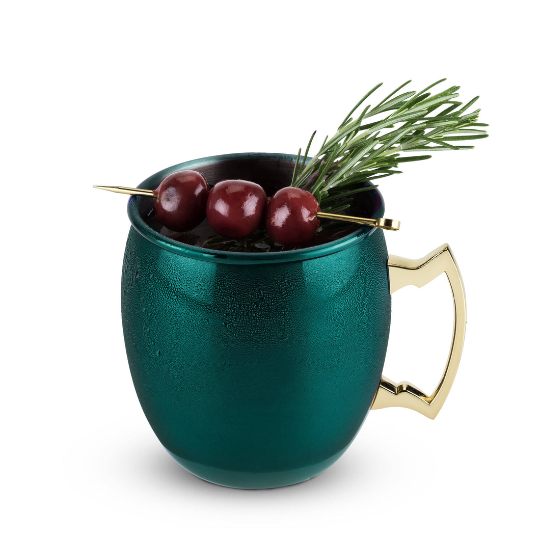 Rustic Holiday: Emerald Moscow Mule Mug