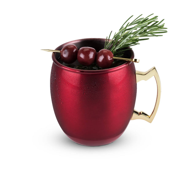 Rustic Holiday: Red Moscow Mule Mug