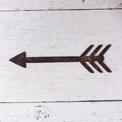 "Boho Arrow - 18"" Tall Rusty Metal Sign"