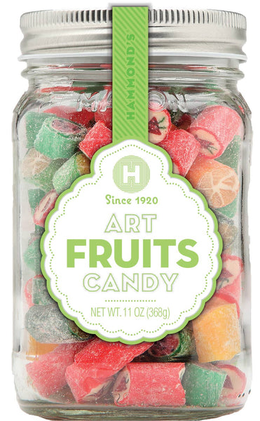 Mason Jar Fruits Art Candy