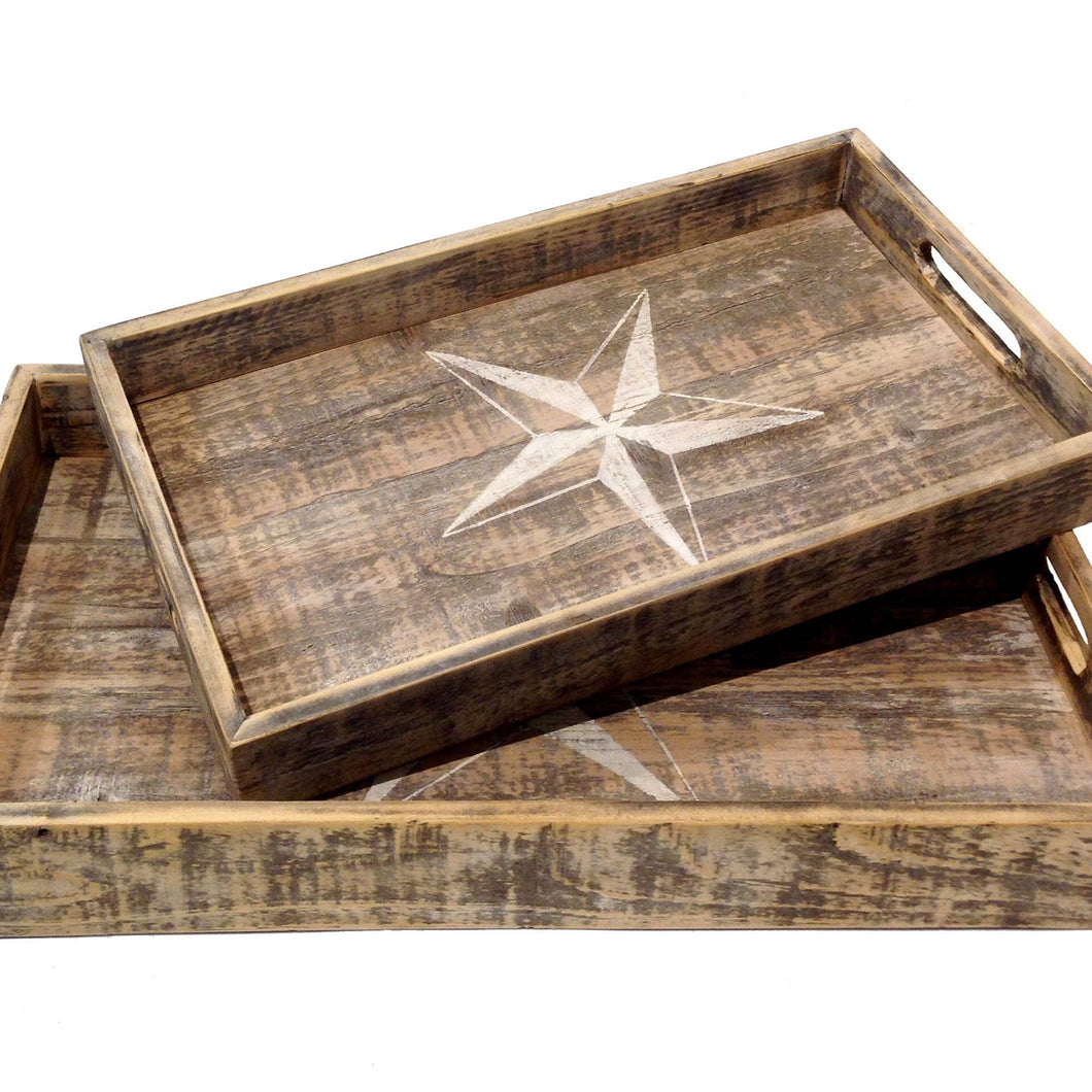 Large Wood Star Tray