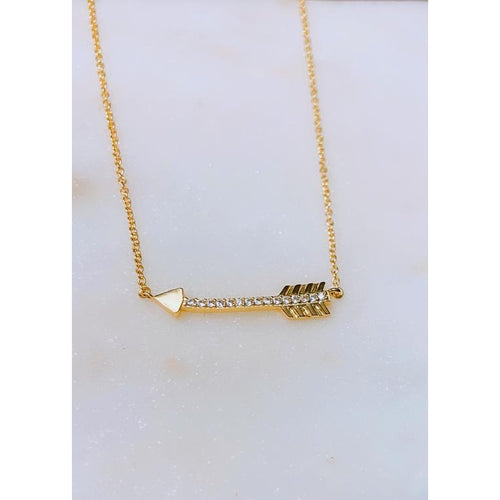 Golden Arrow Studded Necklace