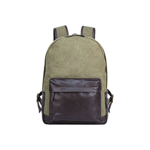 Two Tone Canvas Backpack